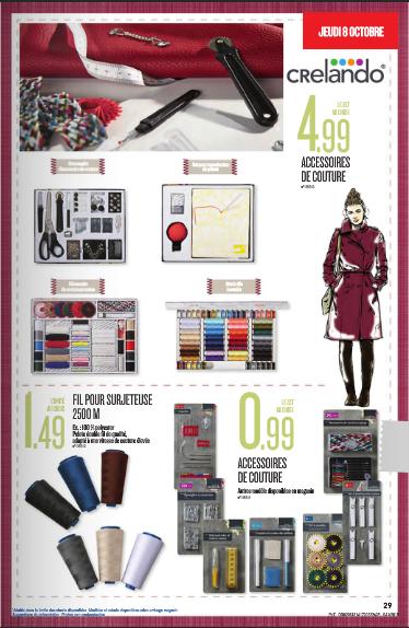 accessoires couture lidl 8 octobre 2015